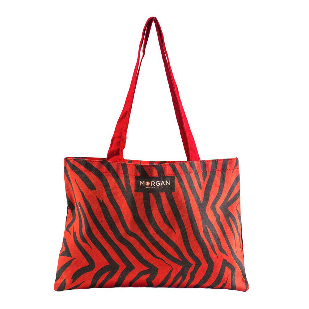 sac cabas publicitaire teint et imprimé, personnalisé pour la marque Morgan