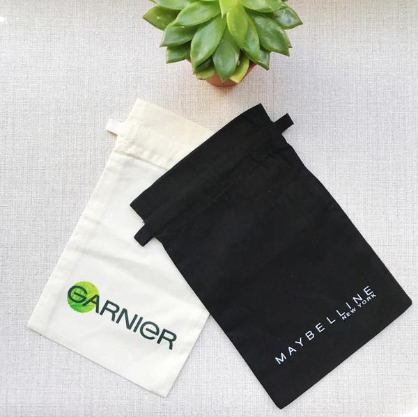 Le pochon coton personnalisable pour enseignes cosmétiques