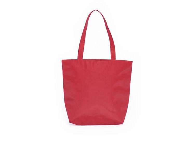 sac cabas publicitaire personnalise couleur rouge sac reutilisable