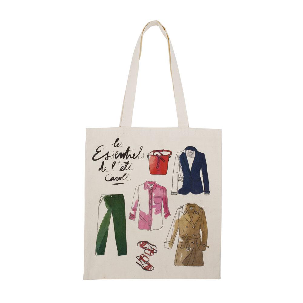 sac publicitaire coton type tote bag pour la marque Caroll