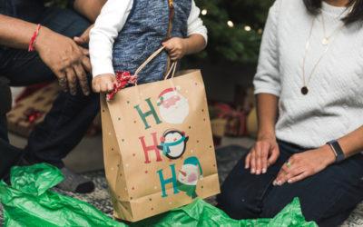Le sac publicitaire à l'image de Noël pour les enseignes de luxe